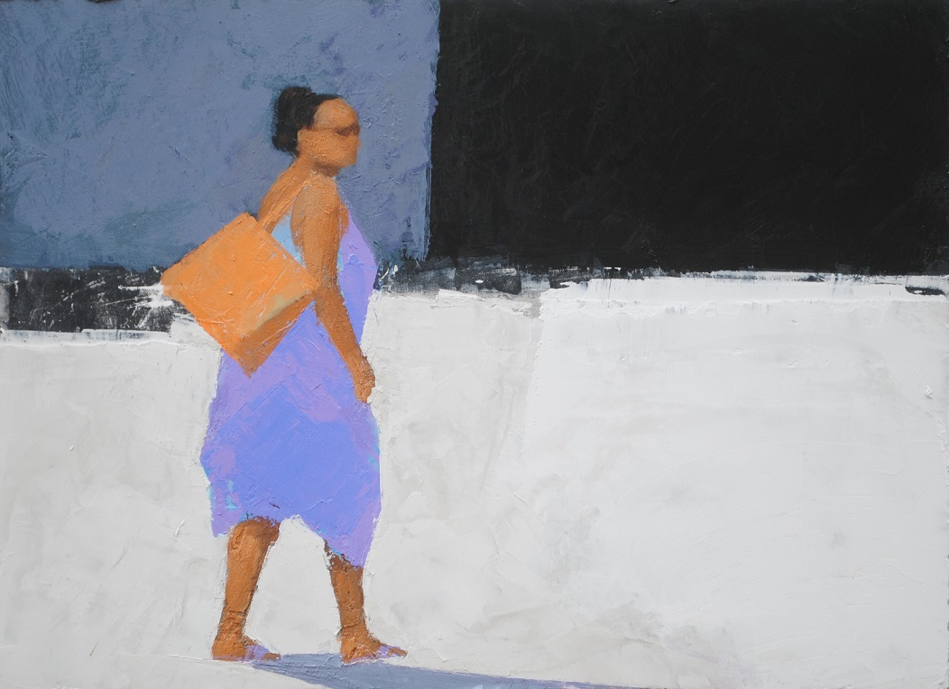 woman with an orange bag